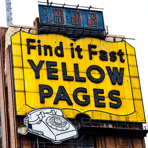 The Big New Shiny Yellow pages